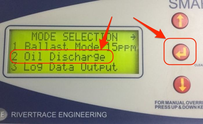 Oil discharge mode in ODME