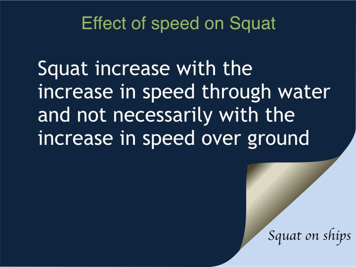Effect of speed on Squat