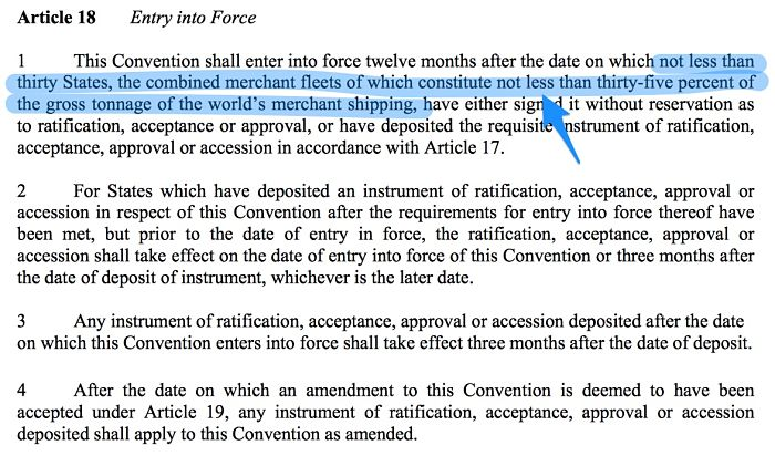 Article 18 of ballast water convention