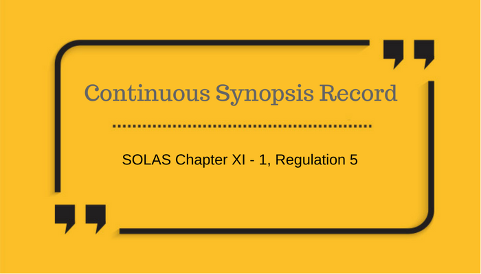 Continuous synopsis record requirement