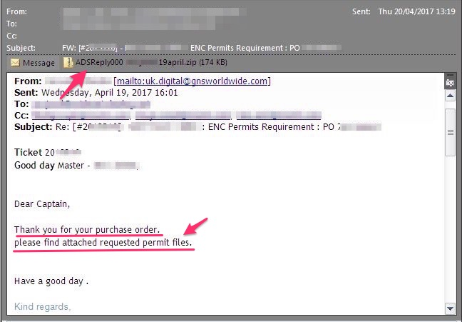 email from ENC Provider