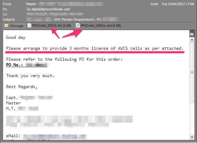 email to ENC provider